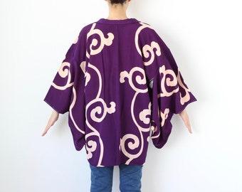 Karakusa kimono, haori, silk robe, kimono cardigan, haori /3536