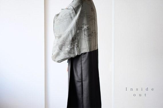 Vintage kimono jacket, Mens Haori, Japanese Kimono