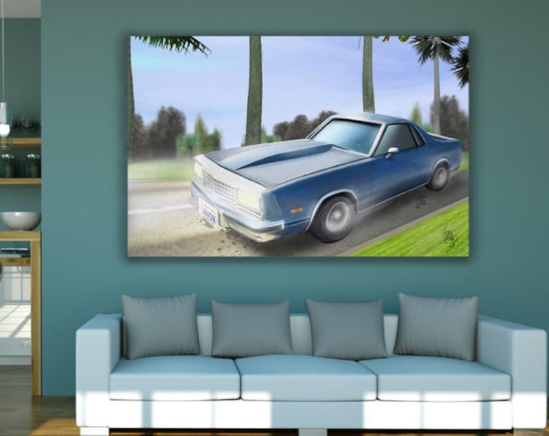 Custom Car Portrait Great Birthday Gift For A Loving