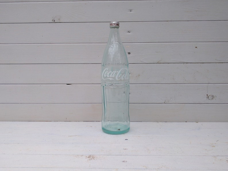 French Coke / Coca-Cola Bottle 1 Litre / 100cl Complete with Cap