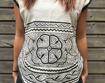 Naturally Dyed, Shipibo, Tribal T-shirt/Blouse