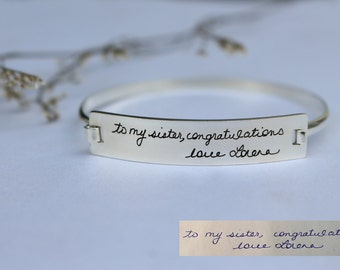 Actual Handwriting Bracelet - Personalized Signature Bracelet - Sympathy Gift - Mother's Gift - Christmas Gift - Valentine Gift