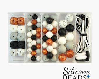 Silicone Bead DIY Jewellery Kit - Midnight Copper