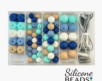Silicone Bead DIY Jewellery Kit - River