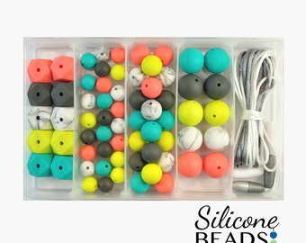 Silicone Bead DIY Jewellery Kit - Summer Watermelon