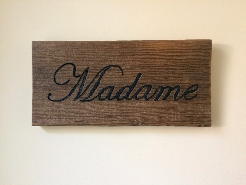 Madame Sign French Country Decor Housewarming Giftfrench Etsy