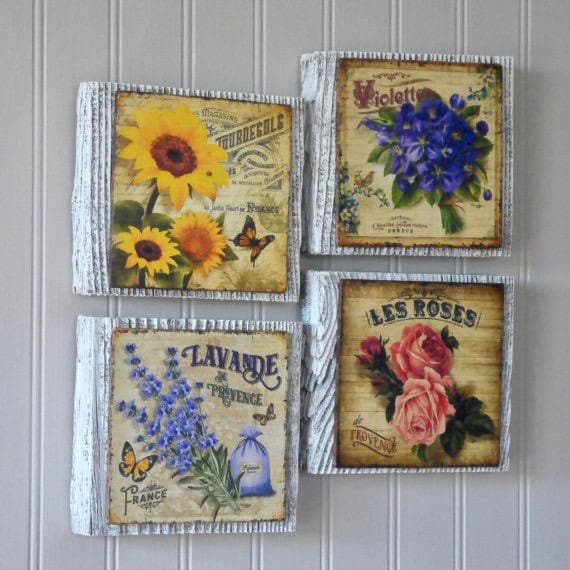 9efdfaf57d9 Flower Wall Art french country wall decor french country