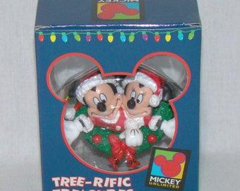 Enesco Tree-Rific Treasures Mickey and Minnie Hanging Christmas Ornament