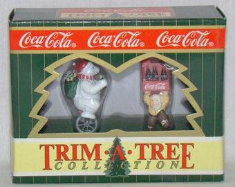 Coca Cola Trim A Tree Collection Santa and Polar Bear 1996