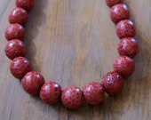 red bead, round bead, ball bead, natural bead, 14mm bead, snake skin bead, jewerly making, jewelry findings, beads best supplier, SK11R