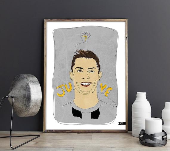 Cristiano Ronaldo Juventus Infinite Line Art Kids Print Etsy