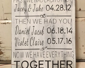 First We Had Each Other family sign, Now We Have Everything, Family Sign - 11x14 - Then We Had Youfarmhouse sign