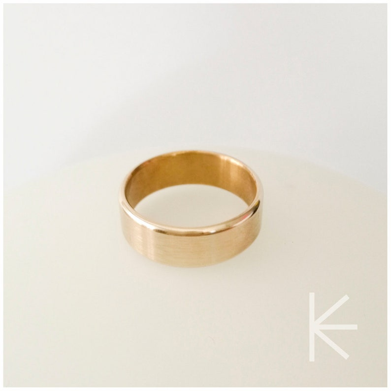 Heavy thick brass ring for men and women minimalist metal image 0