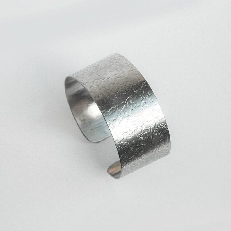 Stainless Steel Cuff Statement Bracelet Unisex Bracelet image 0