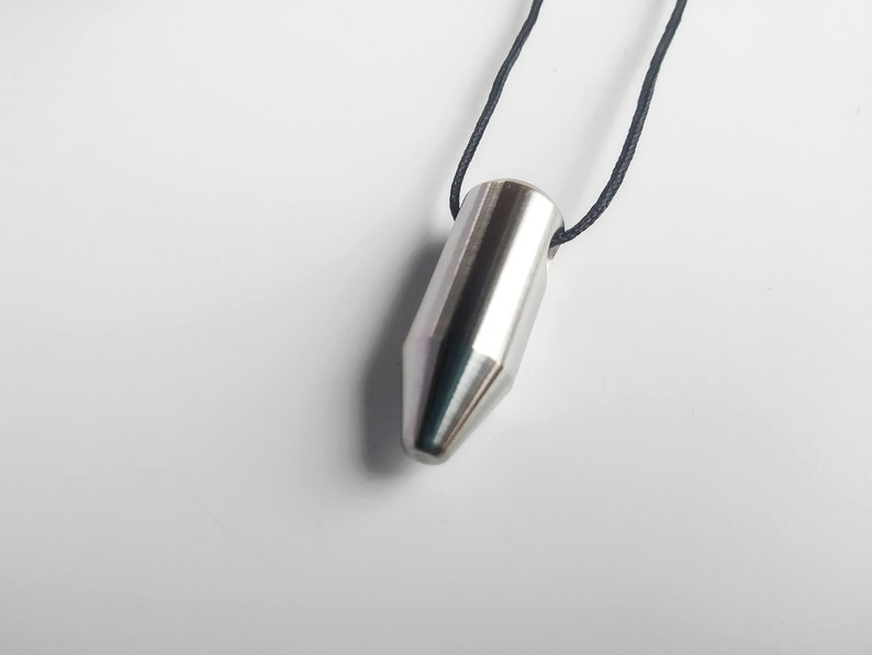 Unique Bullet Stainless Steel Bulltet Necklace Spike Pendant image 0