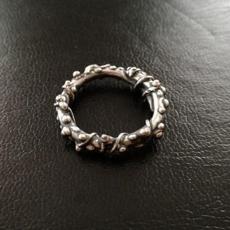 Cobalt Chrome rough Handmade Ring image 0