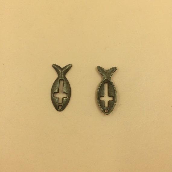 Silver Bronze Tone Dragonfly Charm Pendants 43x47mm 10pcs T542