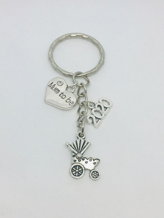 Engraved Heart Charm Silver Plated pram new baby shower choose ANY NAME //message