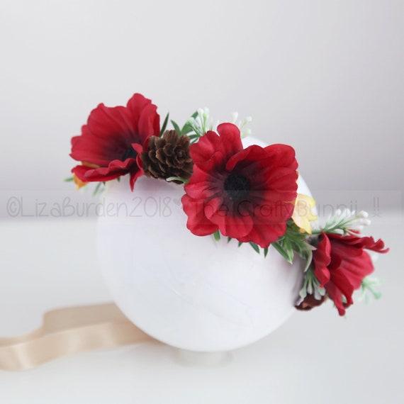 Poppy Flower Baby Headband