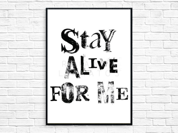 Stay Alive For Me Twenty One Pilots Etsy