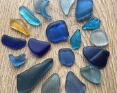 Blue sea glass mix , Scottish sea glass , genuine sea glass , authentic sea glass , sea glass pieces , scottish beach glass , beach glass