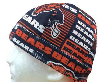 46f096043 Welding Cap  Size 7 1 2 Long Bill  Chicago Bears (Style  2) NFL Reversible  Hat Handmade by Valiska Designs