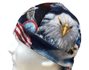 Welding Cap USA Eagle Patriotic American Flag Handmade Reversible Hat by  Valiska Designs 4d76dd53f664