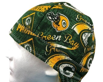 a16cea696 Welding Cap Green Bay Packers NFL Reversible Hat Handmade by Valiska Designs