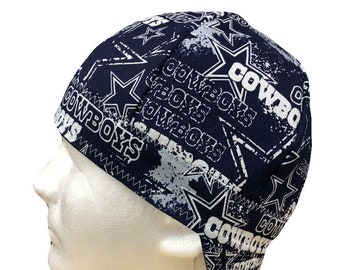 timeless design 8504f 184d3 Welding Cap Dallas Cowboys NFL (Style  6) Reversible Hat Handmade by  Valiska Designs
