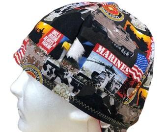 2824b65d5fe Welding Cap U.S. Marines Handmade Reversible Hat by Valiska Designs