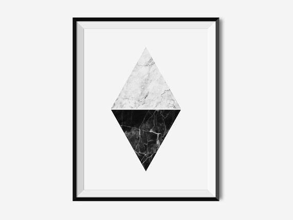Diamond Wall Art Scandinavian Art Geometric Art Diamond | Etsy