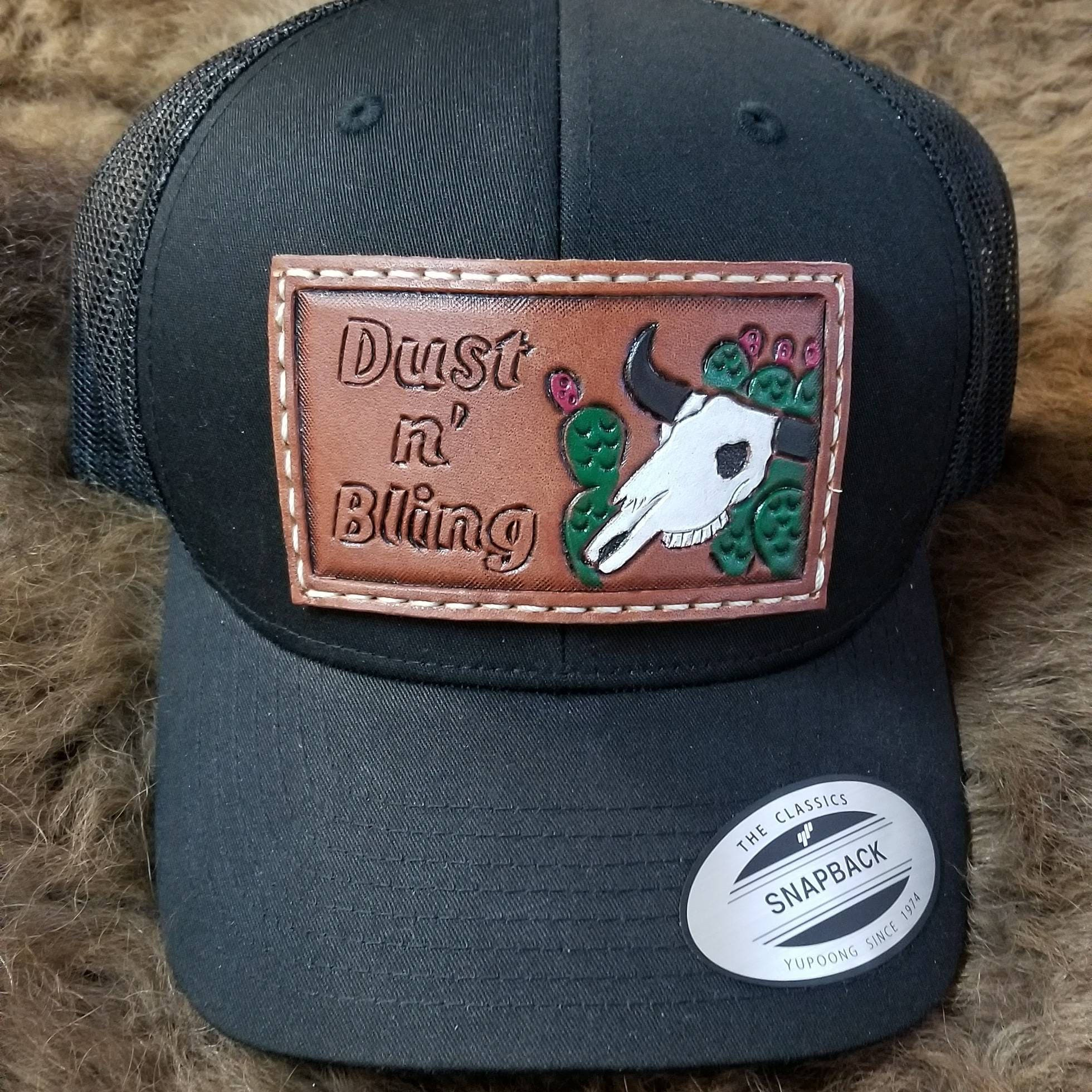 Hand tooled leather patch hats  1ceec6b6b91