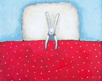 Instant Art Download / Printable art / Wall art / Under the Blanket / Sweet Dreams