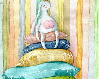 Instant Art Download / Printable art / Wall art /Princess on the Pea