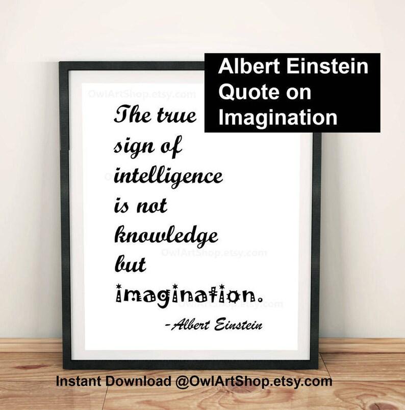 Inspirational Quote Albert Einstein The True Sign Of Etsy