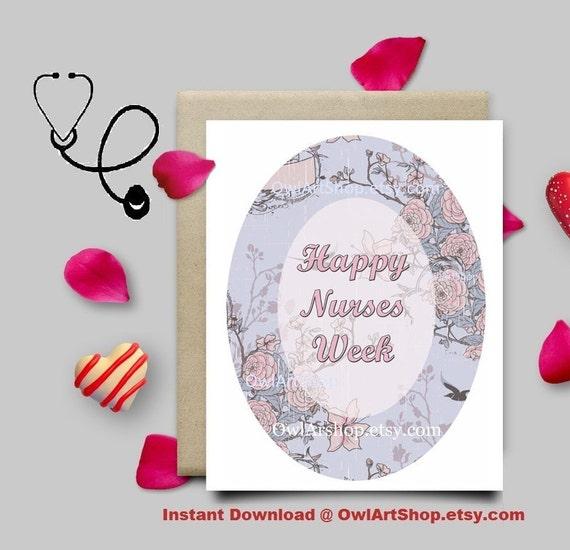 Nurses week card card for a nurse floral vintage pink etsy m4hsunfo