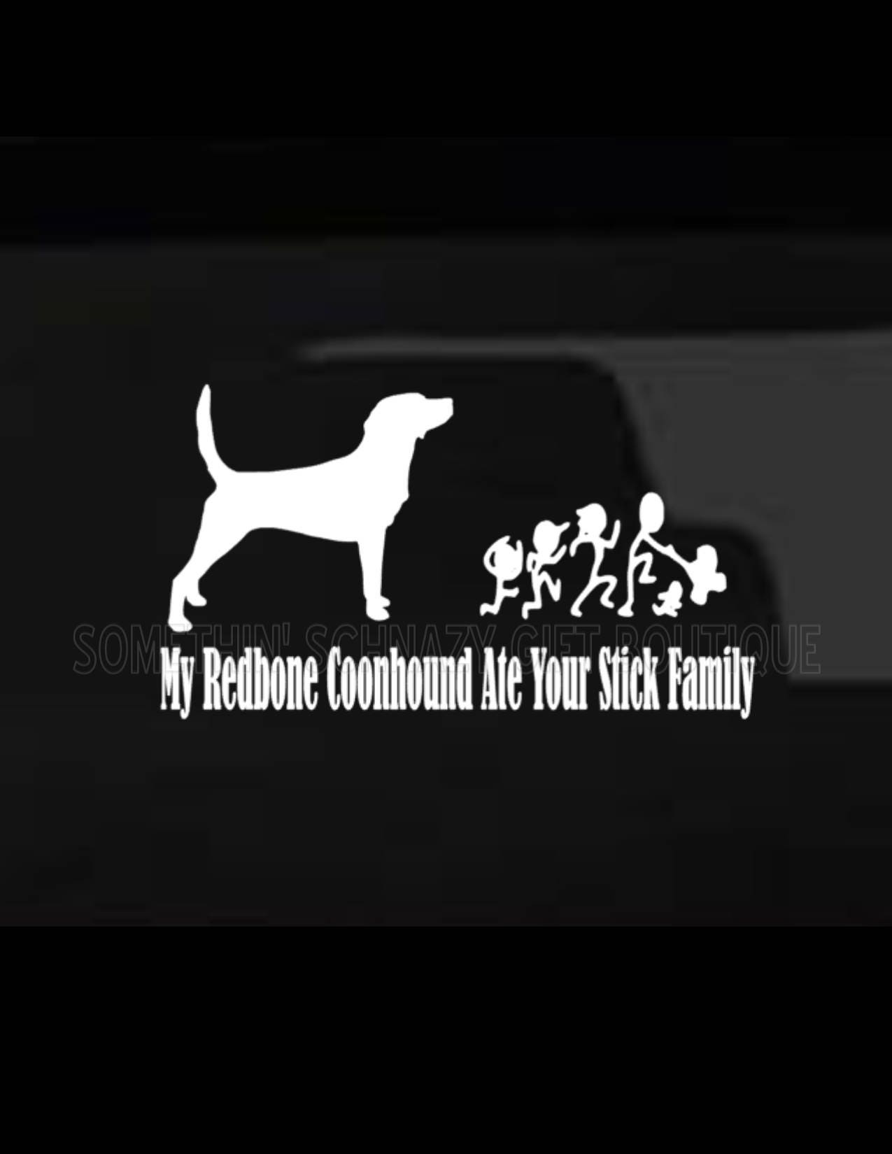 I ATE YOUR STICK FAMILY DINOSAUR Vinyl Decal Sticker Laptop  LARGE SIZE !!!!