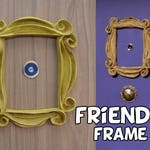 Friends tv show frame friends peephole frame VINTAGE STYLE friends yellow door frame  gift for her best friend gift mom gift