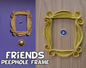 VINTAGE STYLE Friends tv show frame friends peephole frame friends yellow door frame  gift for her best friend gift mom gift
