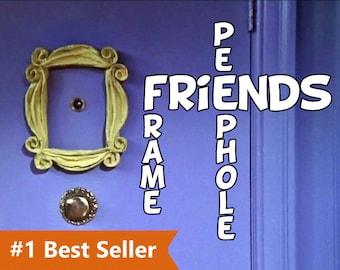 friends tv show frame peephole frame Friends frame series monica's apartment door marco friends best friend gift for women