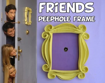 Friends tv show frame friends peephole frame friends yellow door frame  gift for her best friend gift mom gift