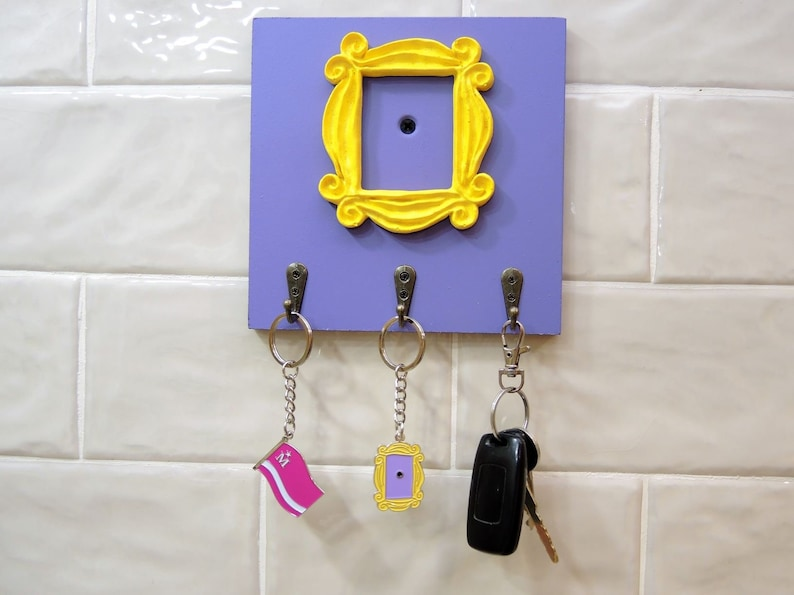 FRIENDS tv show friends peephole frame Wall Mounted Key Holder image 0