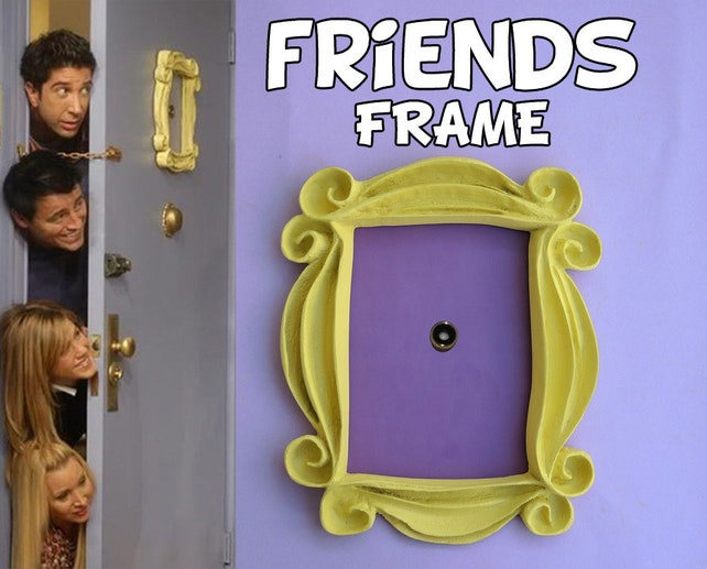 Friends tv show frame friends peephole frame friends door | Etsy