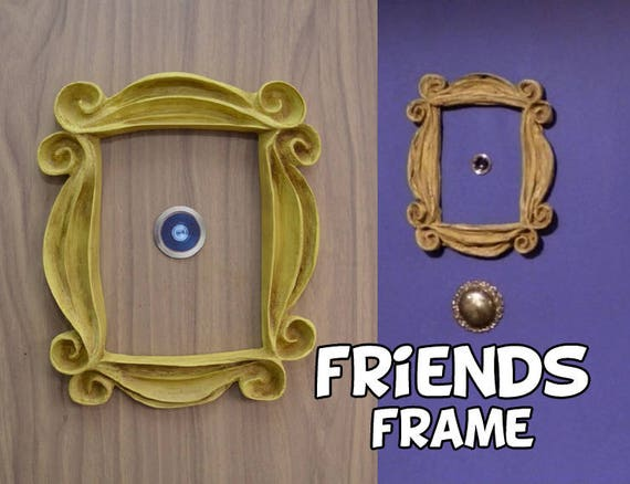 Friends Tv Show Frame Friends Peephole Frame Vintage Style Etsy