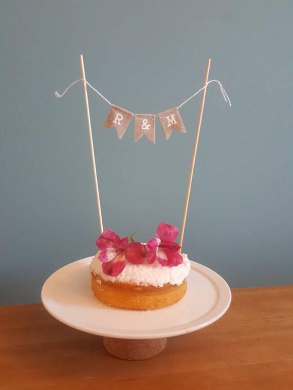 Mr/&Mrs Surname  Wedding Cake Topper Mini Bunting Banner Topping Shabby  Vintage