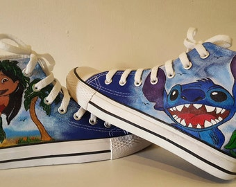 Disney Lilo and Stitch Hand-Painted custom boots