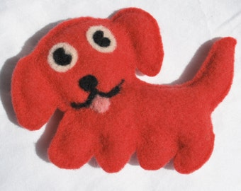 Puppy Felted Doll