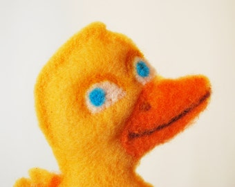 Duck Felted Doll