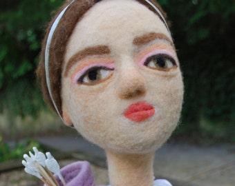 Artemis Needle-Felted Puppet -Stick or Bunraku style Professional Wool Felt Performance Puppet