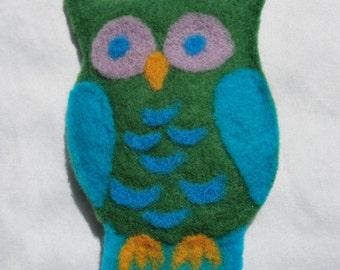 Owl Felted Doll